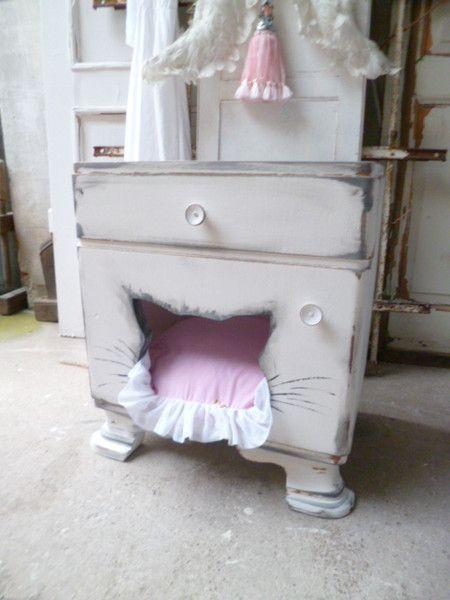 katzenhaus katzenschlafplatz katzenh hle shabby von krewa steht f r kreativ werkstatt. Black Bedroom Furniture Sets. Home Design Ideas