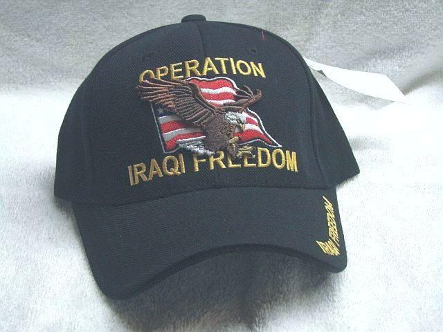 38856890168 Vintage Operation Iraqi Freedom Low Profile Black Ball Cap Never Worn. Find  this Pin and more on Products by Old Salt Sailor Apparel.