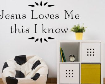 Jesus Loves Me Vinyl Wall Decal Christian Wall Quote Jesus Loves - Custom vinyl wall decals christian
