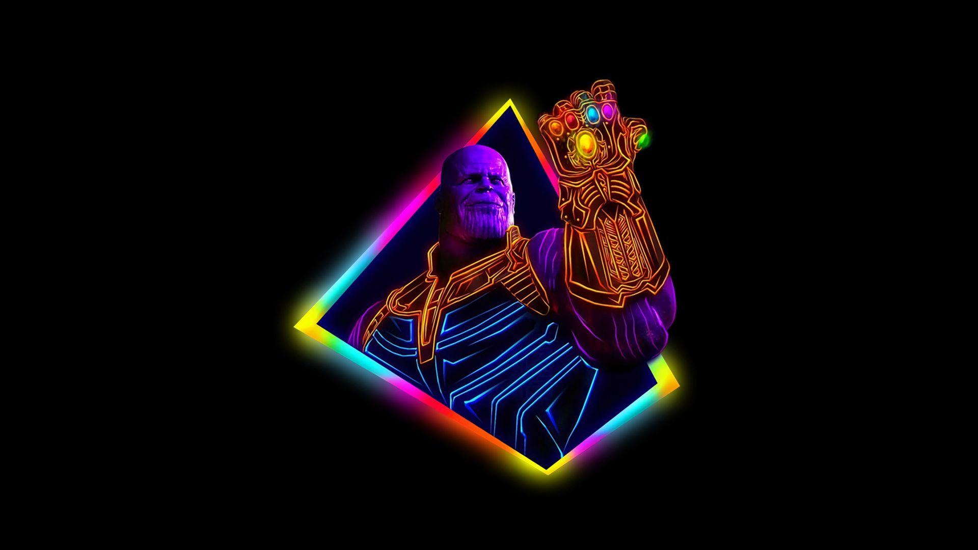 1920x1080 Thanos Avengers Infinity War 80s Style Artwork Avengers Thanos Neon 80s Infinity Wallpapers War 4k D In 2020 Neon Art Avengers Wallpaper Neon Wallpaper
