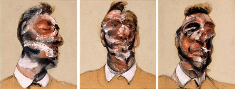 Three Studies for a Portrait of George Dyer (on light ground), 1964