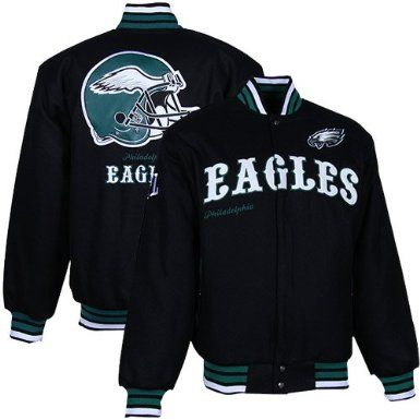 NFL Philadelphia Eagles First Down Wool Jacket Men s  Amazon.com  Clothing fc26ae16e76
