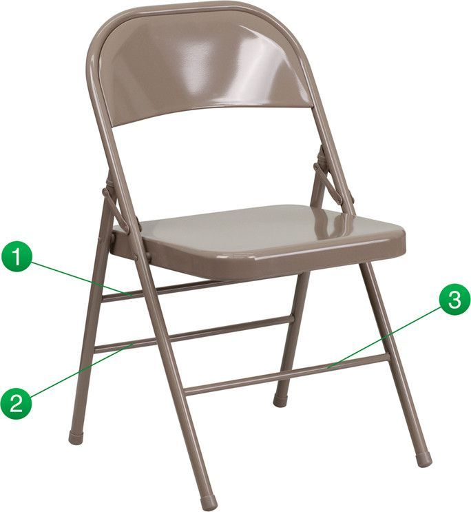Triple Braced Double Hinged Metal Folding Chair Metal Folding Chairs Folding Chair Chair