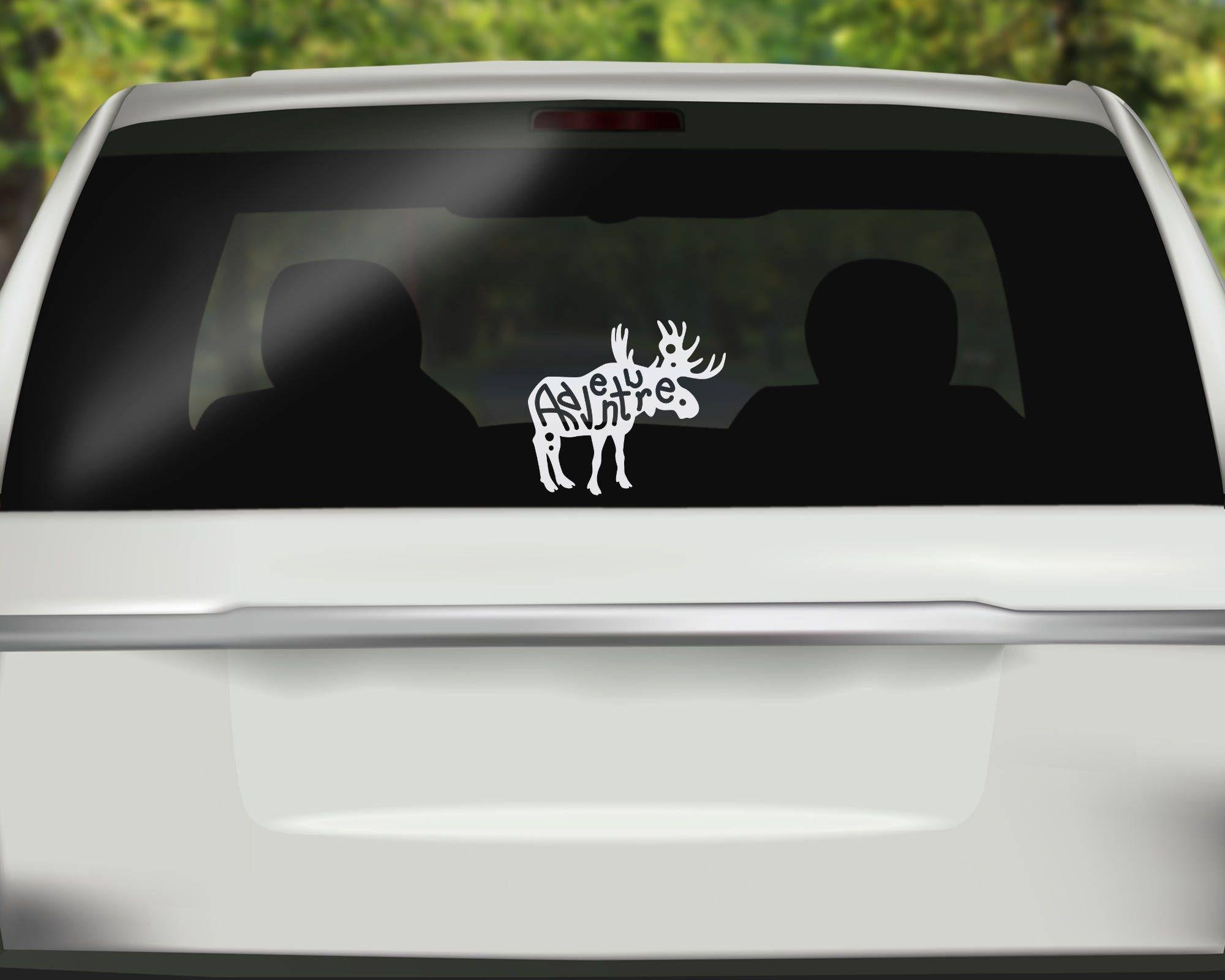 Adventure Moose Decal Moose Car Decal Adventure Alaska Sticker Hand Lettered Sticker Bumper Sticker Funny Car Decals Car Decals Vinyl Hunting Decal [ 1600 x 2000 Pixel ]