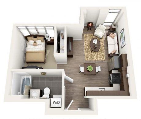 If you are single #5 Apartment design Pinterest Planos, Planos - departamento de soltero moderno pequeo