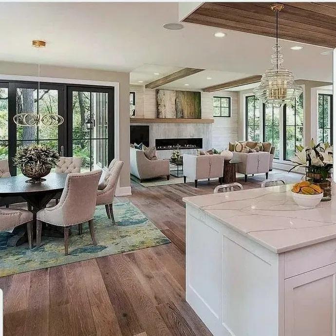 27+ Comfy White Kitchen Dark Floors Ideas  #darkflooring