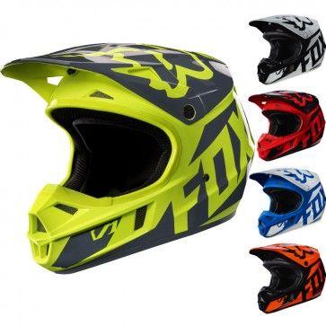 Fox Racing Mx V1 Race Youth Off Road Dirt Bike Atv Mx Motocross Helmets Motocross Helmets Motocross Fox Racing