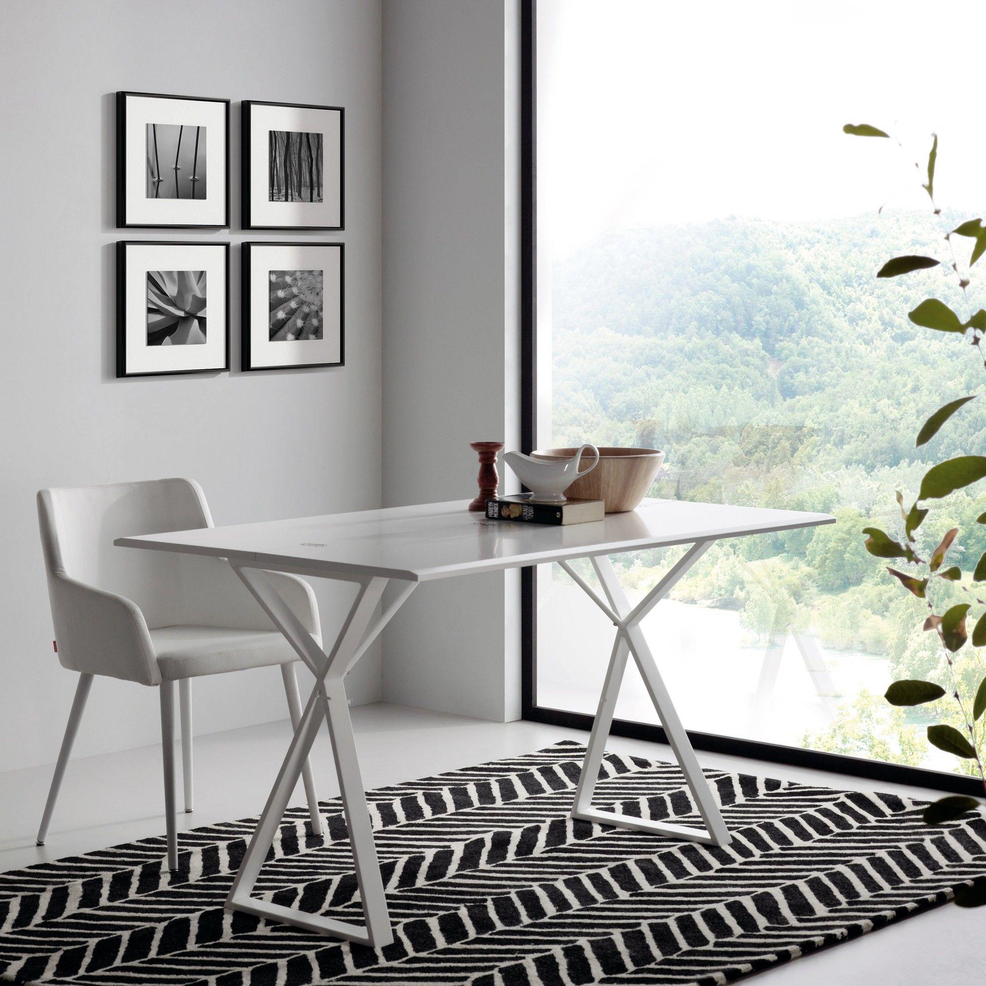 AMBRA 130x45 tavolo consolle trasformabile raddoppiabile