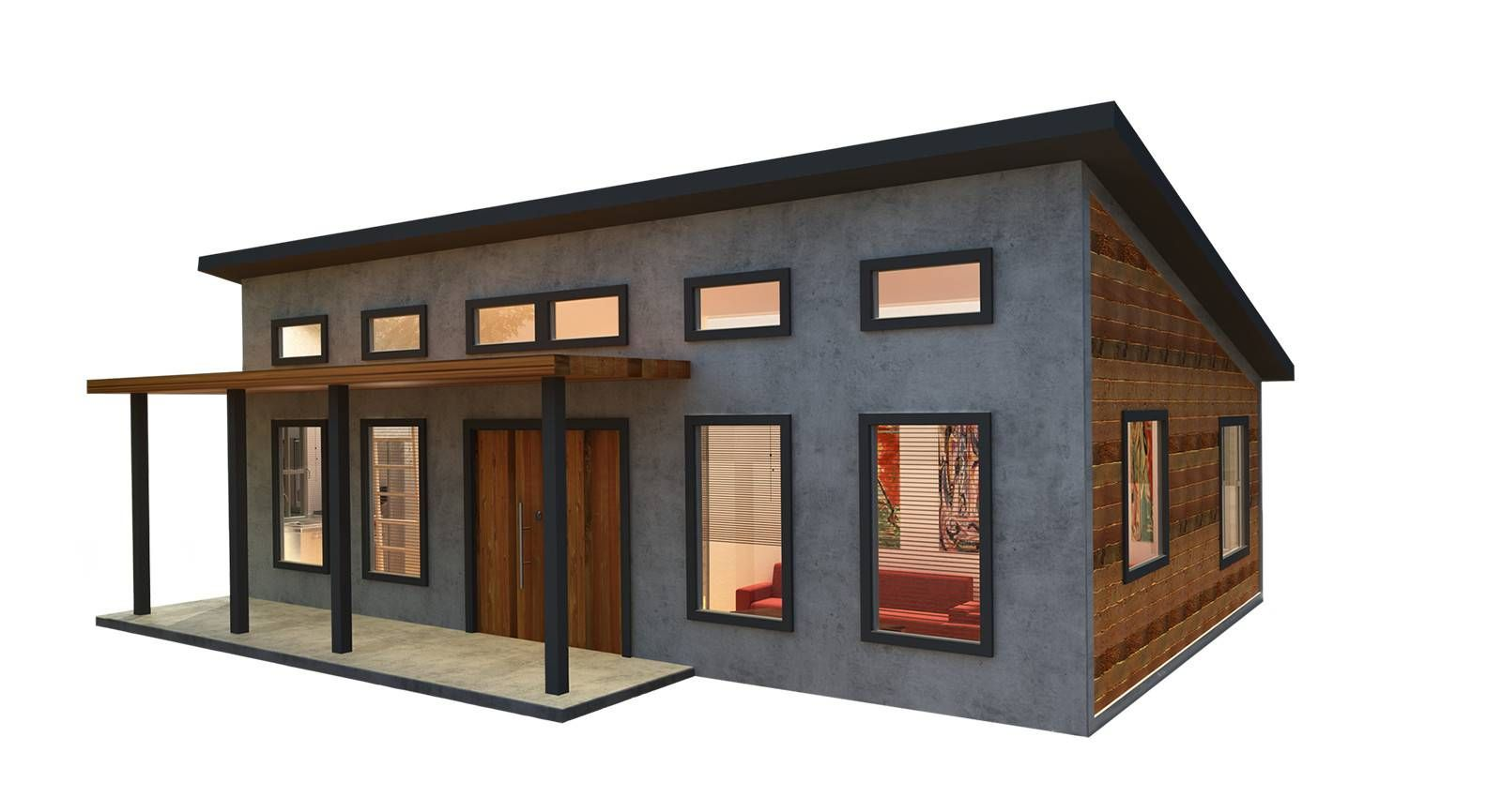 600 Square Foot Modern Mighty Small Homes Cabin House Plans Prefab Homes Small Modern Cabin