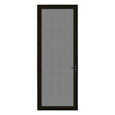 Titan Security Doors Meshtec Single Surface Mount 36x96 Ultimate Security Screen Door In 2020 Security Screen Door Screen Door Aluminum Screen Doors