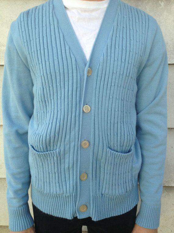 www.etsy.com/shop/elseevintage    Vintage Sweater    Studio 33 Men's Blue Sweater    Great Vintage Condition    Tag Size: L - Fits Men's Medium  $10.00