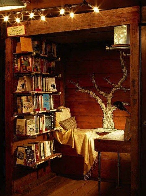 Reading a childhood classic in this cozy space.   31 Places Bookworms Would Rather Be Right Now