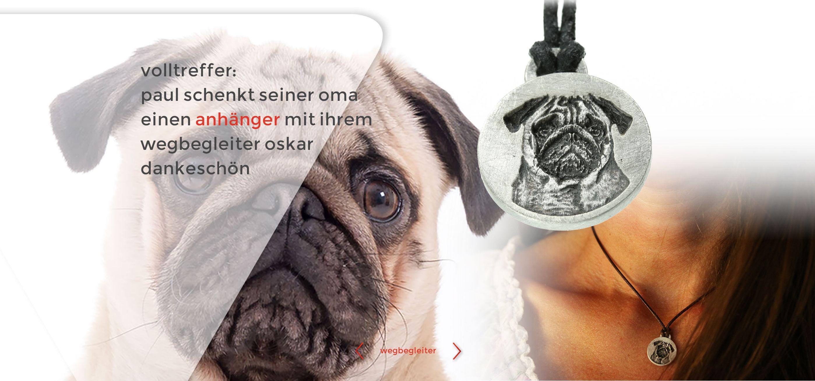 wegbegleiter www.wegbegleiter.com schmuck geschenk hund liebling ...