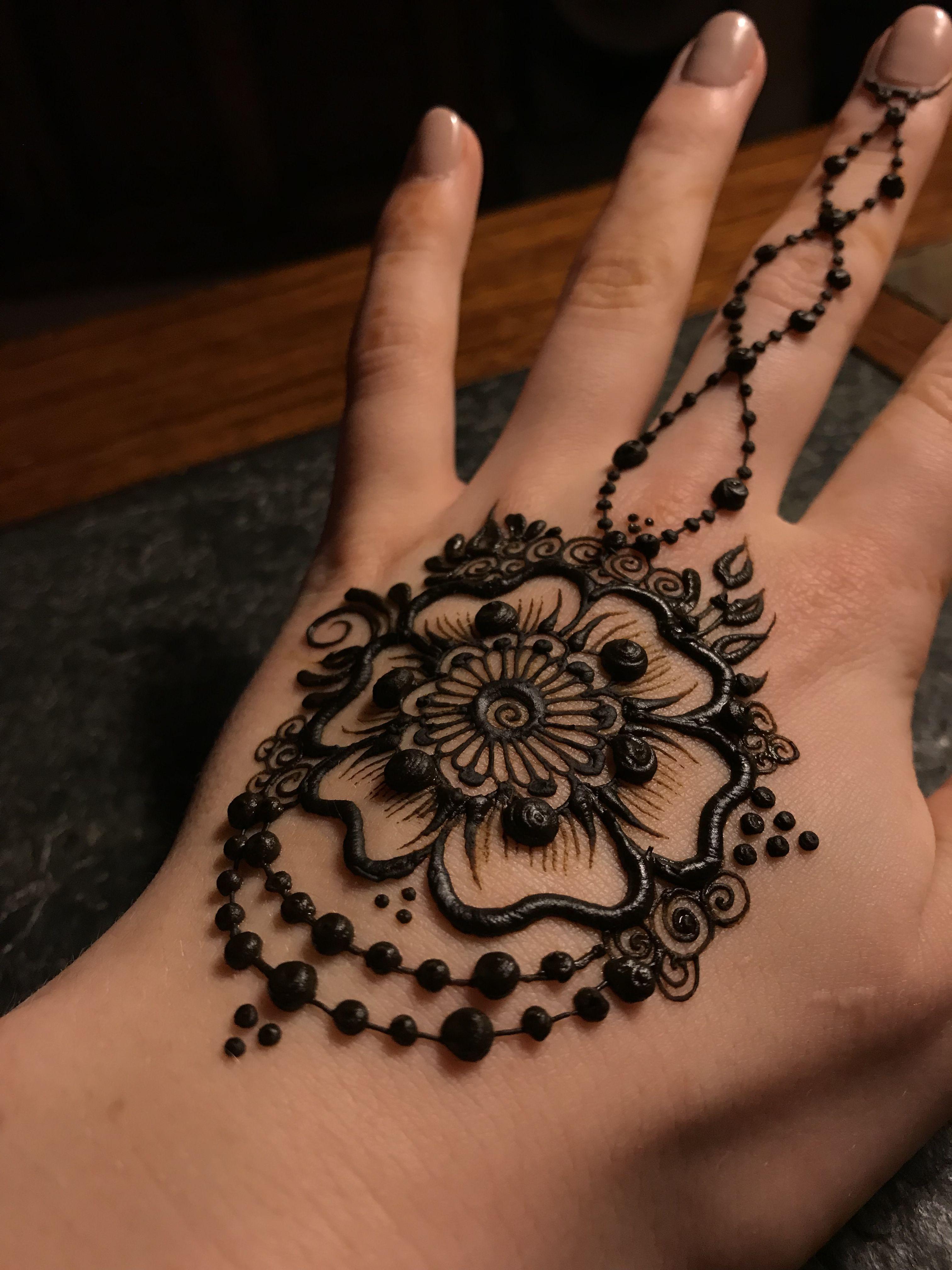 Mehndi Flower Tattoo Designs: Flower Henna Image By Samantha Jacoby On Henna