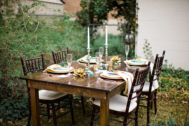 Elegant Table Setting Ideas For A Rustic Bridal Shower