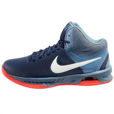 0333538550ed Nike Air Visi Pro VI Mens 749167-402 Navy Blue Crimson Basketball Shoes  Size 8.5