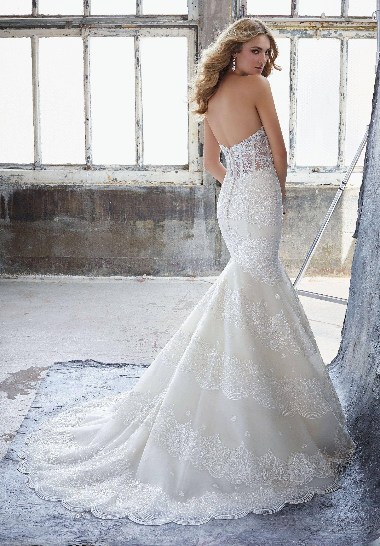 Style Khloe Back View Mori Lee Wedding Dress Wedding Dress Styles Bridal Gowns [ 2630 x 1834 Pixel ]