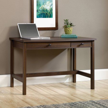 Sauder County Line Writing Desk In Rum Walnut Walmart Com Walnut Writing Desk Cheap Office Furniture Furniture