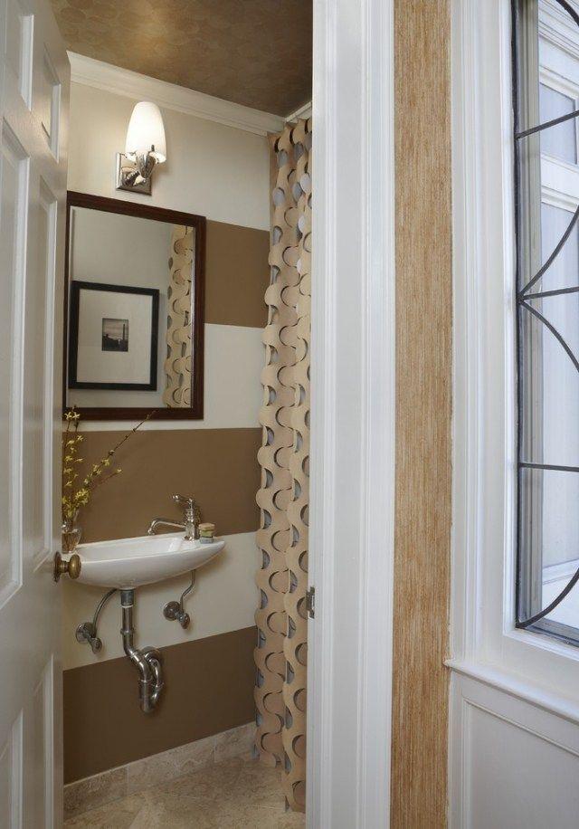 Hingucker im kleinen Bad-Wandgestaltung mit regelmäßigen - moderne kleine badezimmer