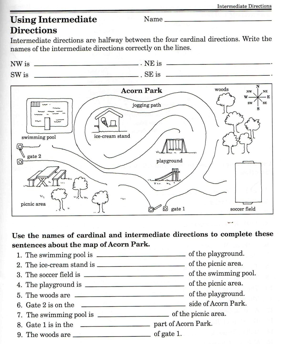 Second Grade Map Skills Worksheets Map Skills Worksheets 3rd Grade Map Skills Worksheets Geography Worksheets Social Studies Worksheets