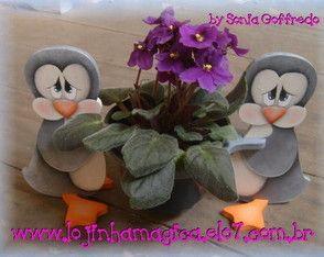 ENFEITES DE VASO - PINGUINS