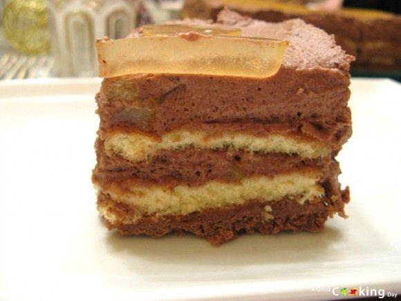 Recette de gâteau craquant au chocolat et à l'orange : détail