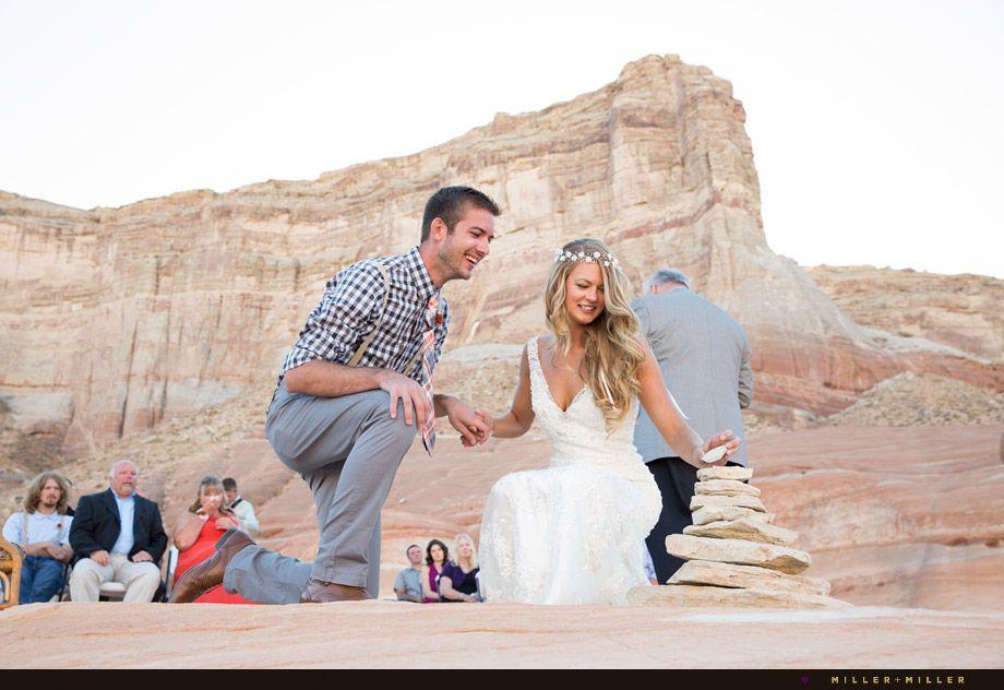 Jimmy Stephanie Chicago To Lake Powell Destination Wedding Photographer Photographers