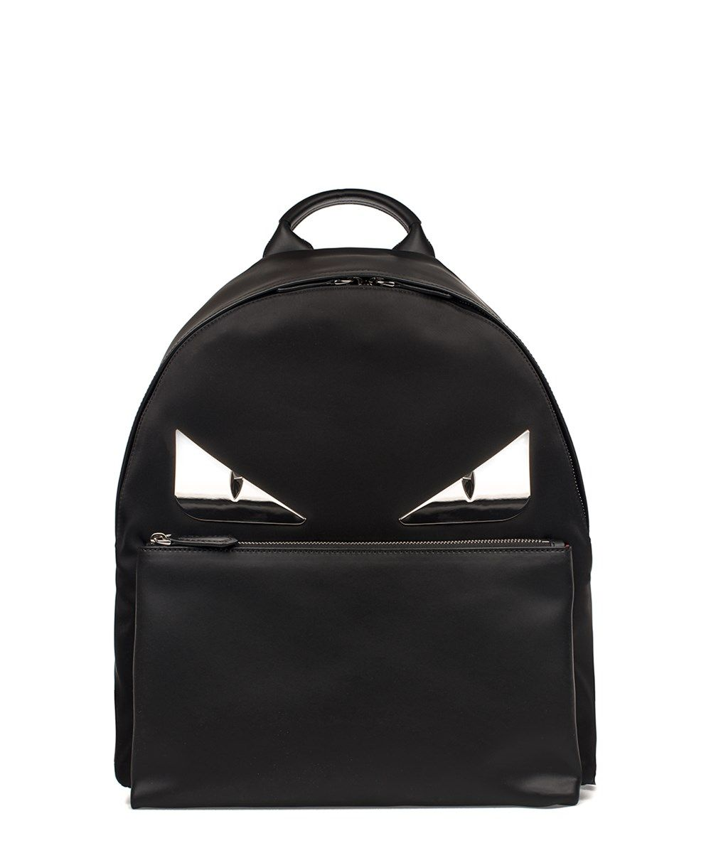 493d132b8090 FENDI Fendi Men S Black Leather Backpack .  fendi  bags  leather  polyester   backpacks