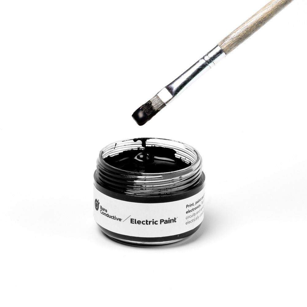 Bare Conductive Electric Paint - 50ml Jar-Paint wires, circuits, and ...