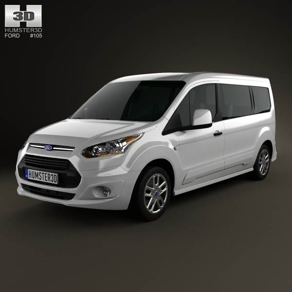 3d Model Of Ford Tourneo Connect 2014 Ford Transit Ford Connection