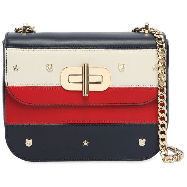 fabbc223f5 Tommy Hilfiger Women Striped Faux Leather Shoulder Bag (1917835 PYG) ❤  liked on Polyvore featuring bags, handbags, shoulder bags, chain shoulder  bag, ...