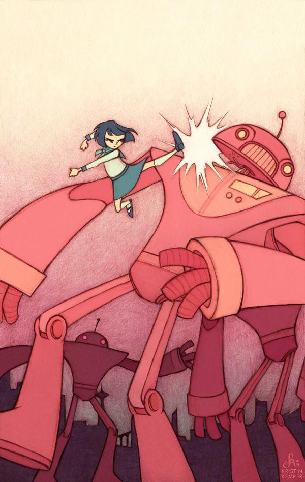 Yoshimi Battles The Pink Robots Robot Art Print Robot Art Art