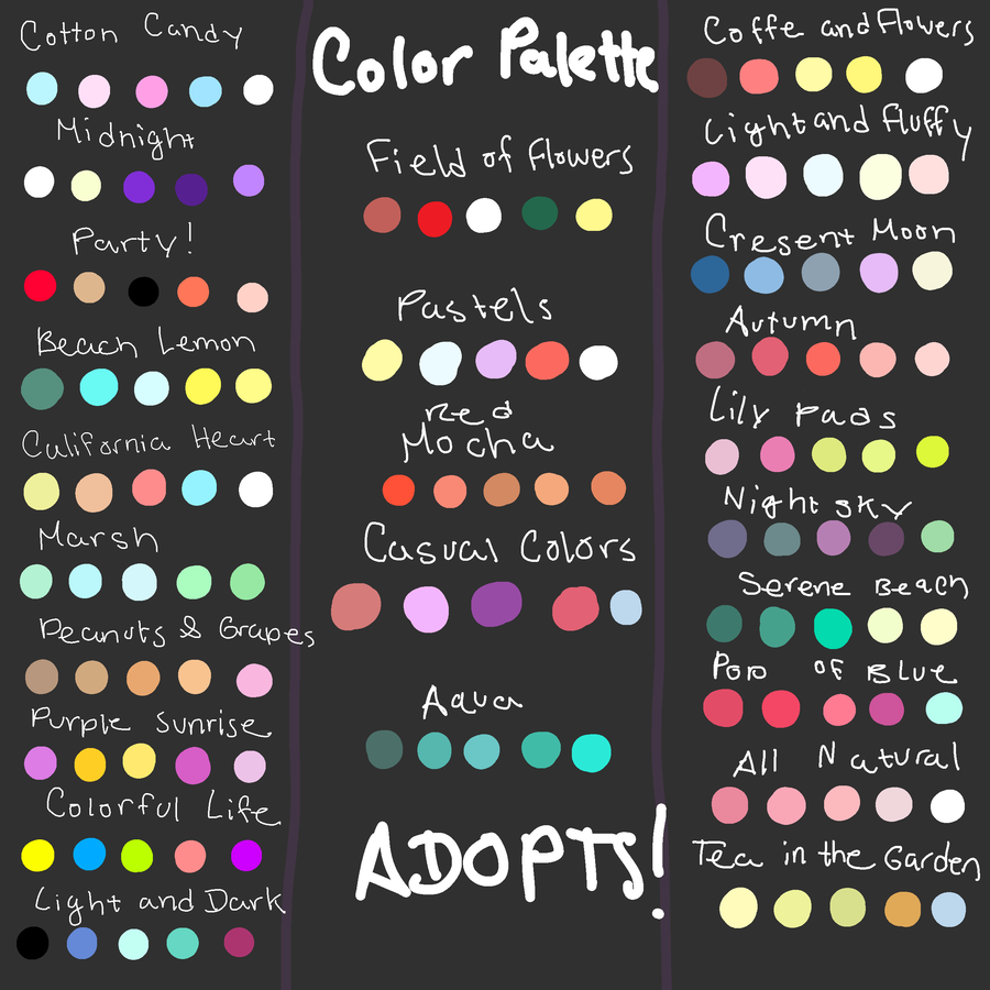 Book color scheme - Image Result For Kawaii Colour In