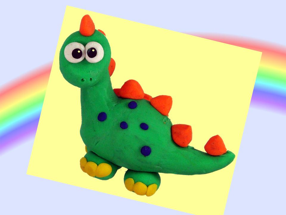 Dinosaurio De Plastilina Como Hacer Un Dinosaurio De Plastilina Dinosaurios De Plastilina Animales En Plastilina Manualidades