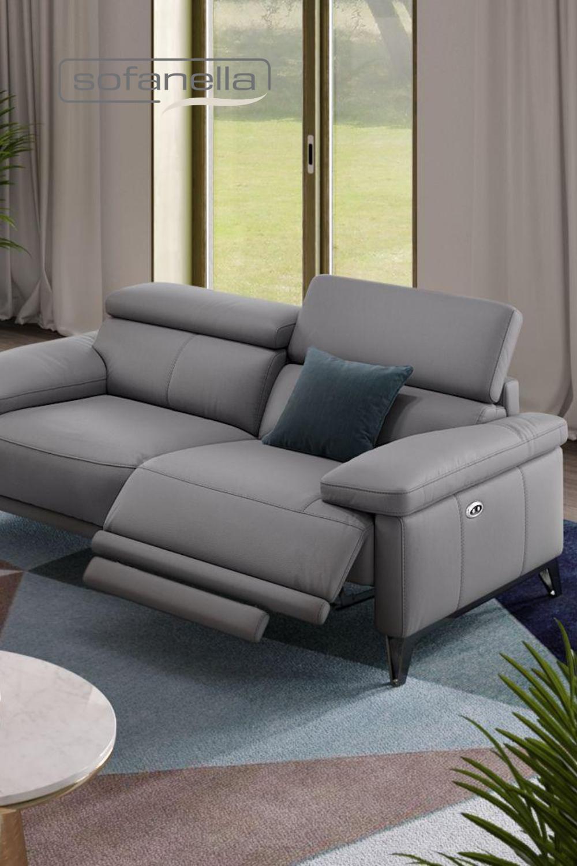 2er Couch Leder In Grau Entdecke Formschone 2 Sitzer Couches Aus Grauem Leder In 2020 Home Recliner Chair Couch