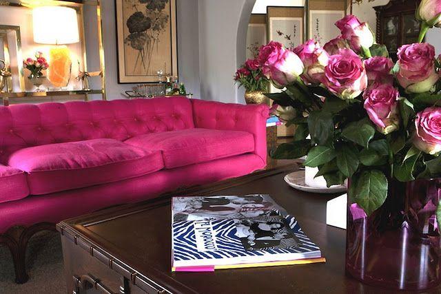 Hot Pink Couch Hmm Lol A Bit Much