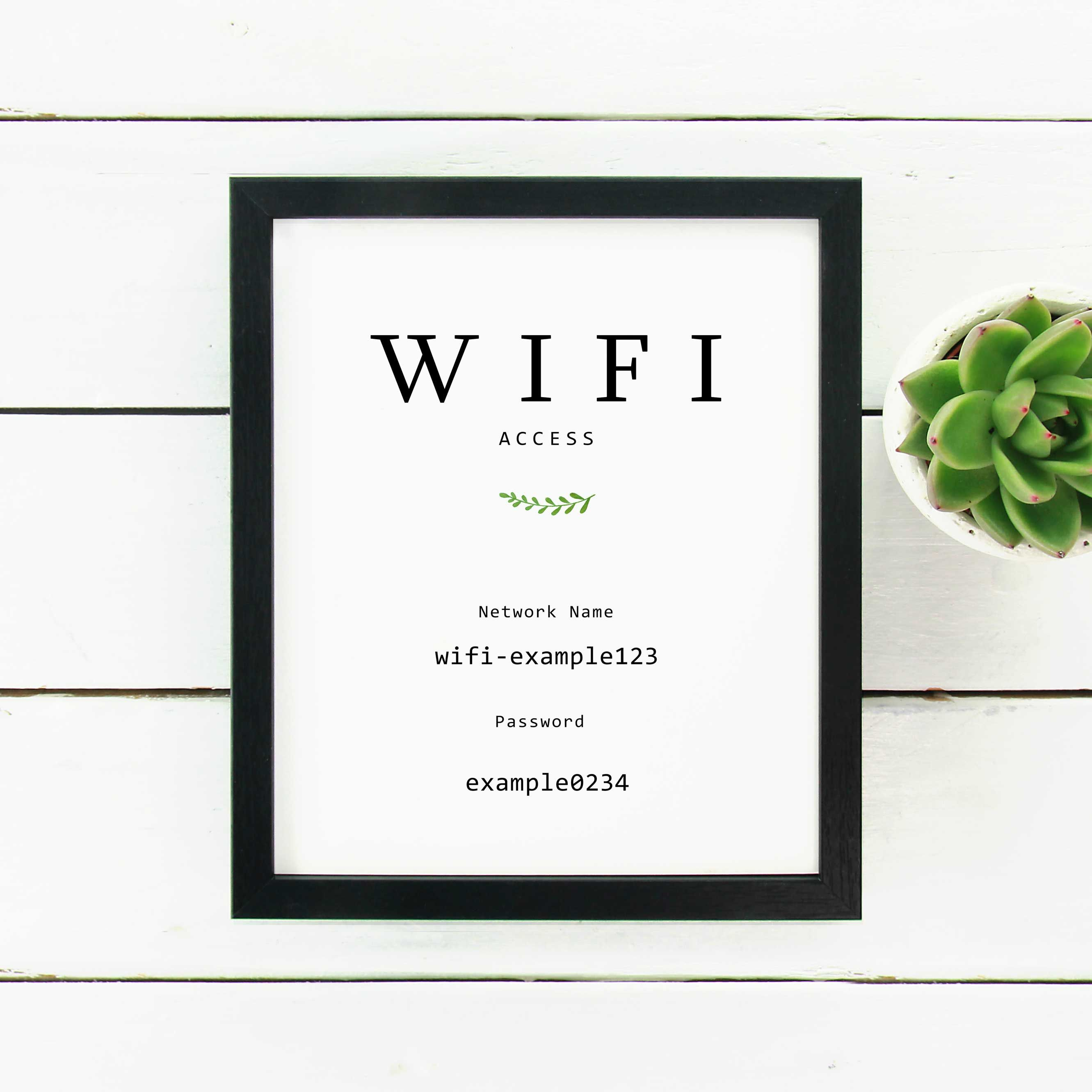 Wifi Printable Print Sign For Airbnb Guest Bedroom Modern Black And White Decor Airbnb Ideas G Guest Bedroom Black And White Decor Guest Bedroom Inspiration