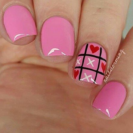 pinsusan berman on valentine's day nails in 2020
