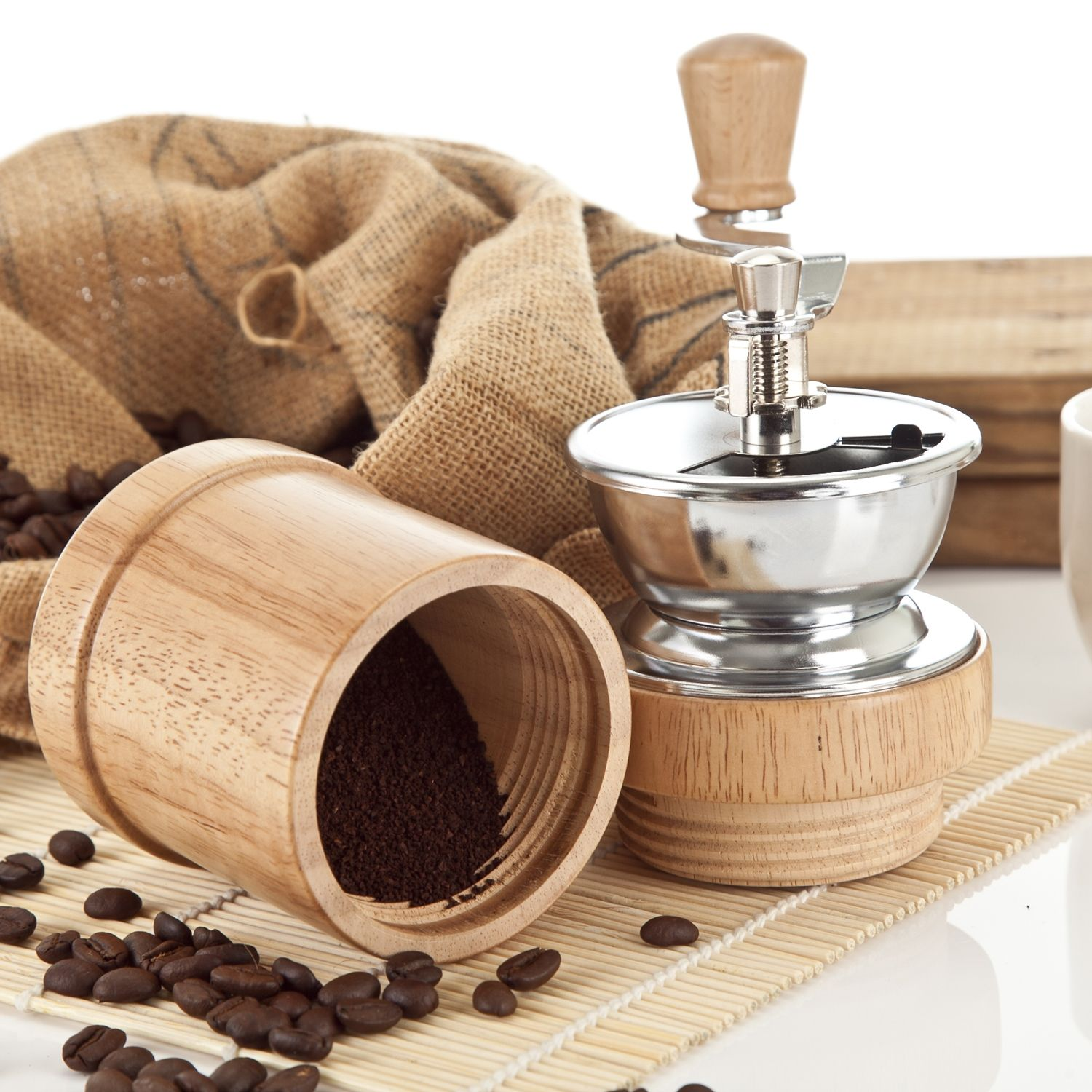 [HOLAR] coffee beans manual grinder coffee powder wooded