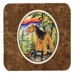 Set of 4 Lakeland Terrier Foam Coasters