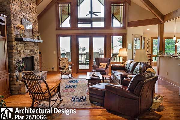 Plan 26710GG: Rugged Mountain Plan With Great Outdoor