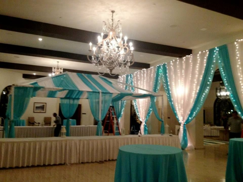 Turquoise + White Riviera Country Club Event Party