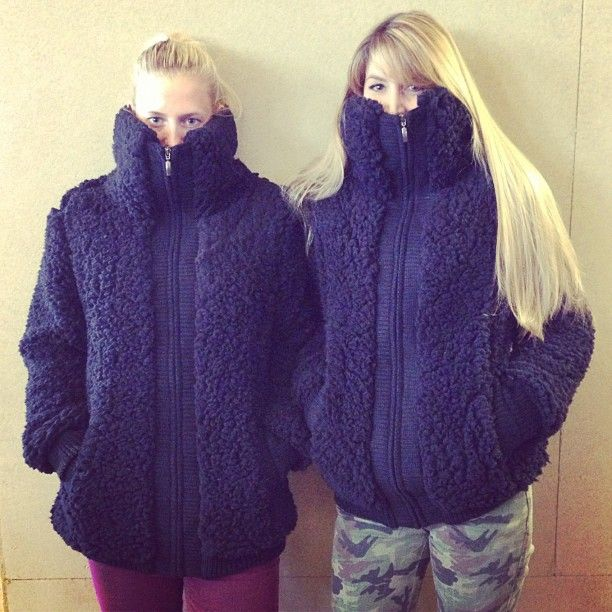 The Teddy Bomber twins #employeestyle.. such a good idea