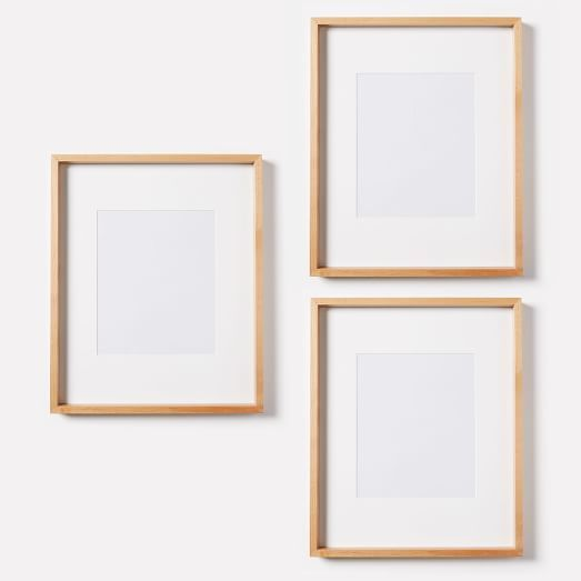 Thin Wood Gallery Frames - Wheat | Nursery office and Woods