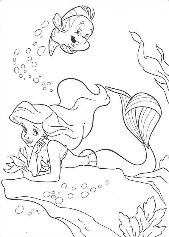 Kleurplaten Van Ariel Zeemeermin.Coloring Page Ariel The Little Mermaid Kids N Fun Free Printables