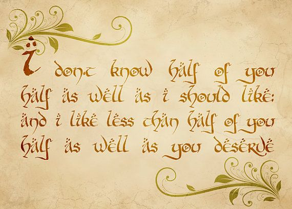 Bilbos birthday speech. One of my favorite quotes. :)  Middle Earth  P...