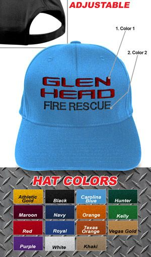 Fire Department Clothing Firefighter Custom Fire Department Adjustable  Beach Style Velcro Hat  13.95 75fccb351d72