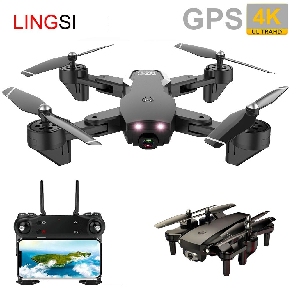 US $50.07 54% OFF|GPS FOLLOW ME WIFI FPV Optical Flow Posit Quadcopter With 4K/1080P HD Wide Angle Camera Foldable Altitude Hold Durable RC Drone|RC Quadcopter| | - AliExpress