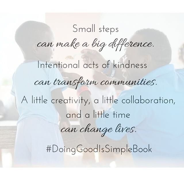 From Chapter 1 of #DoingGoodIsSimple.  #DoingGoodIsSimpleBook : @chrismarlow