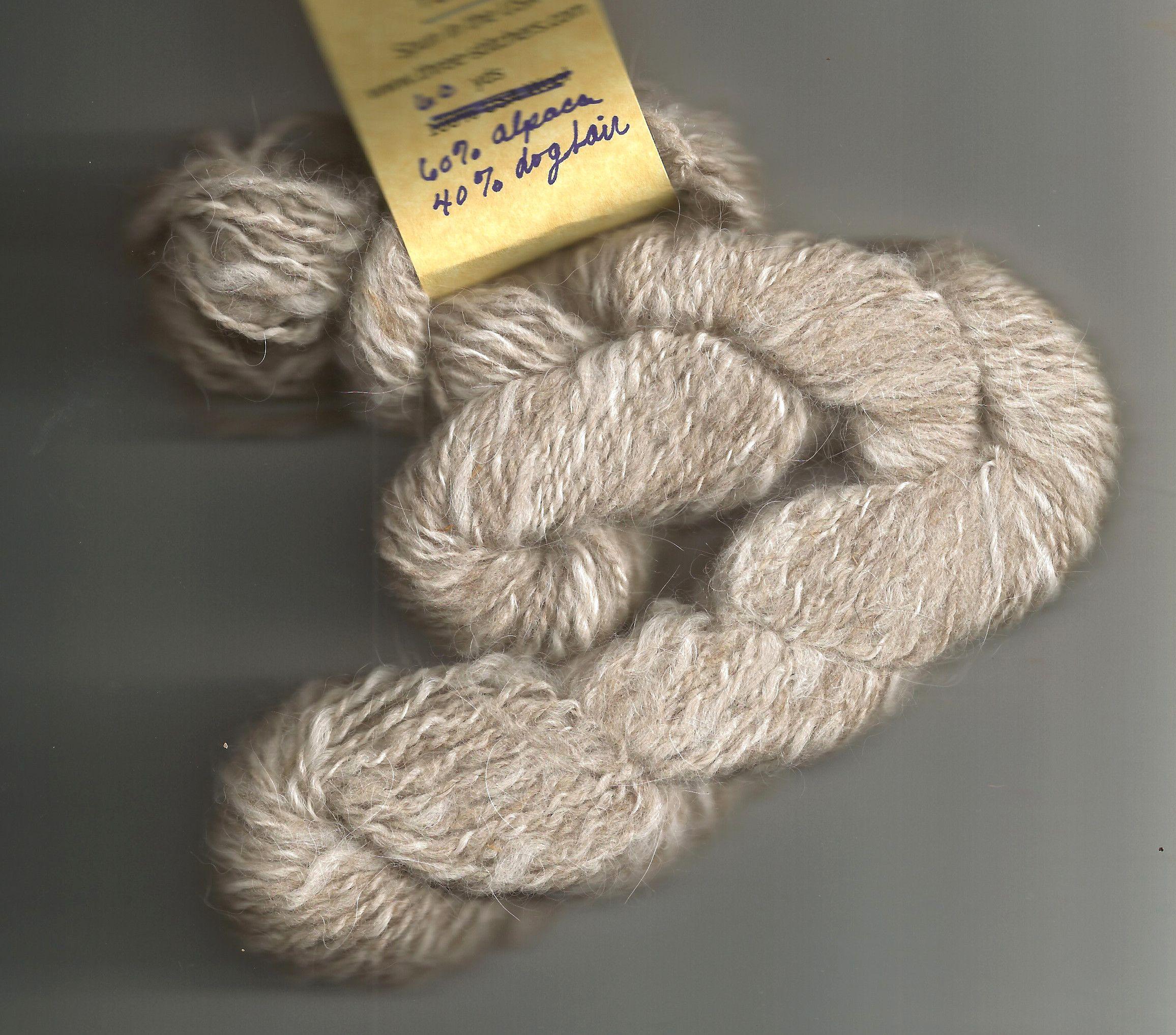 50 Yards Hand Spun Wstd Wt Alpaca Yarn 2 Knit Weave OOAK Navy Blue